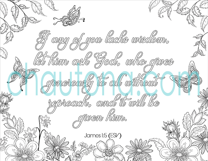 James 1:5 coloring page