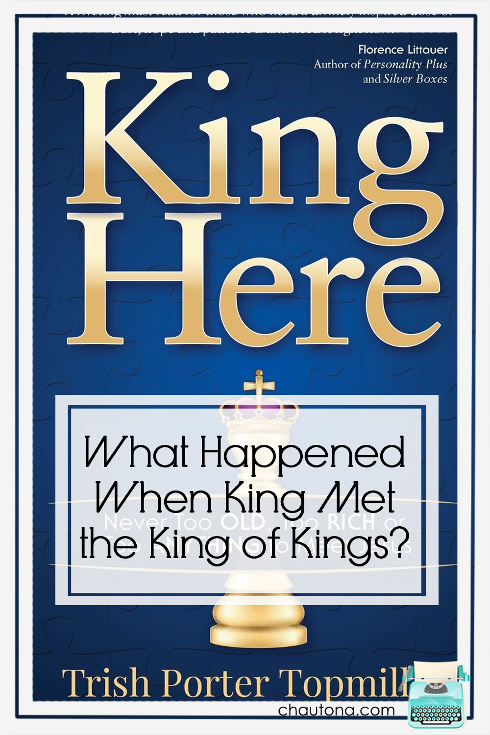 King Here is an unusual biography. Filled with stories that show just who Chuck King was, this book shows how easy it is to assume we don't need Jesus. via @chautonahavig