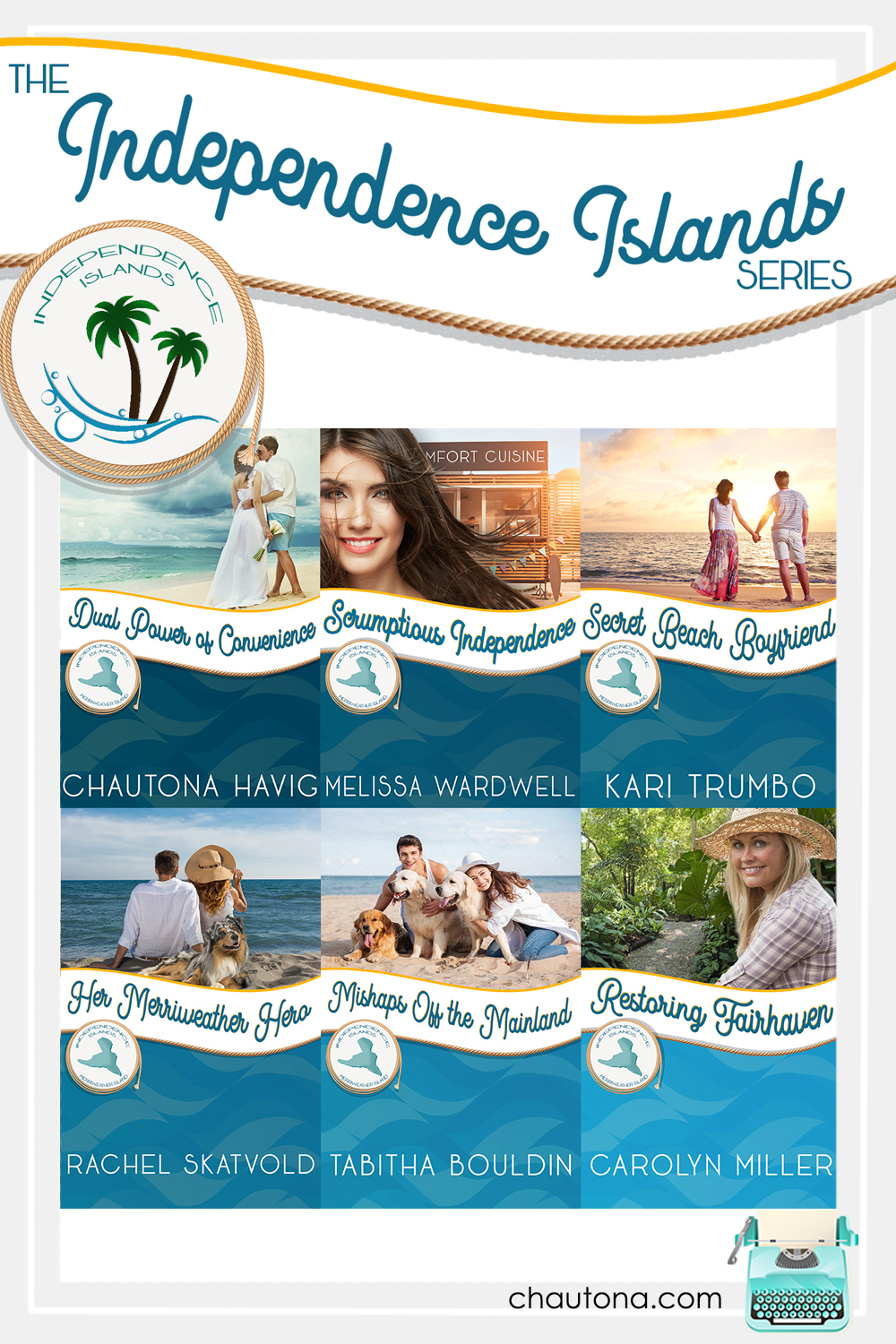 The Independence Island Series: Six authors, five islands, and a boatload of happily-ever-afters. Beach reads aren't just for summer anymore. via @chautonahavig