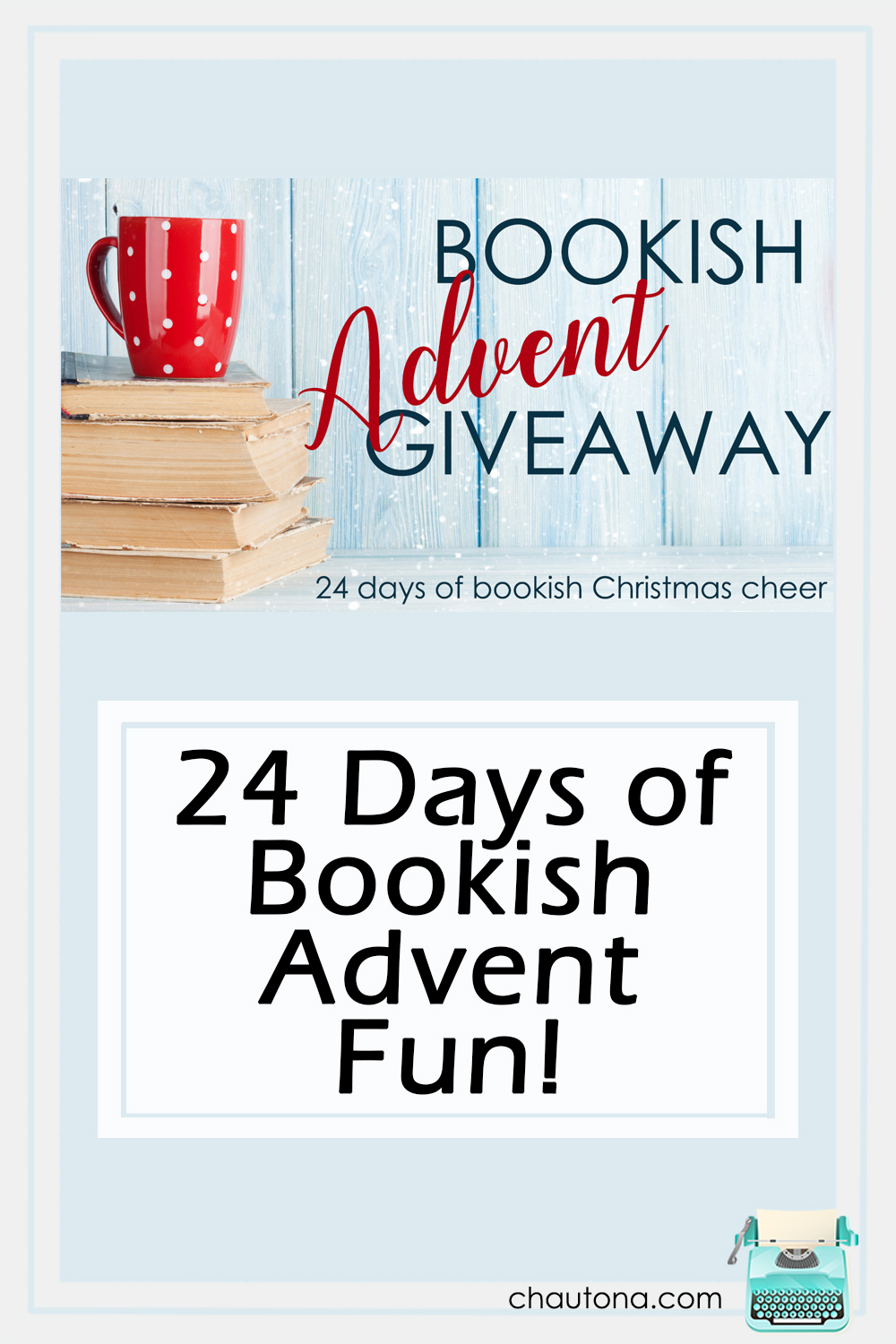 Join 24 authors for 24 days of bookish fun in the month of December! Daily prizes from each author and a GRAND PRIZE of $350 dollars! Enter Daily! via @chautonahavig