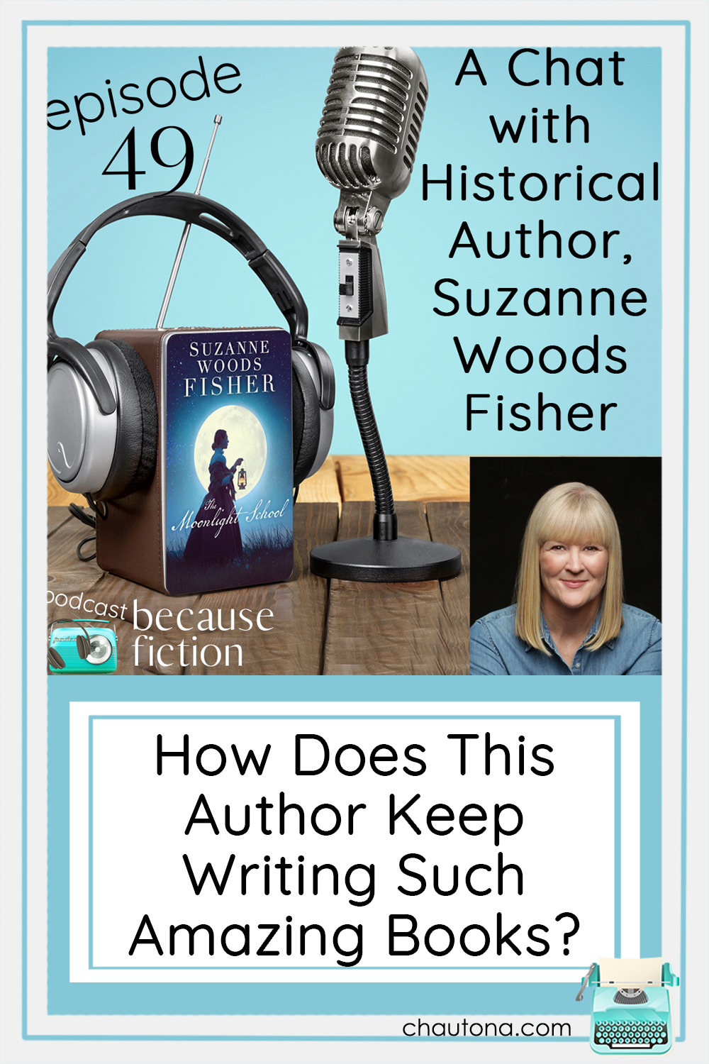 Author of the newly released (and totally fabulousThe Moonlight School, Suzanne Woods Fisher shares her inspiration for the novel and about her other series. via @chautonahavig