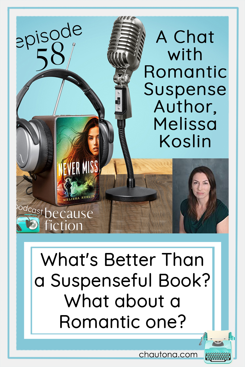"Okay, aside from her love of Jane Eyre, Melissa Koslin and I have a lot of things in common.  We love suspense, and as long as it isn't ""electric cheese,"" as one friend of mine calls it, we even love romantic suspense. via @chautonahavig"