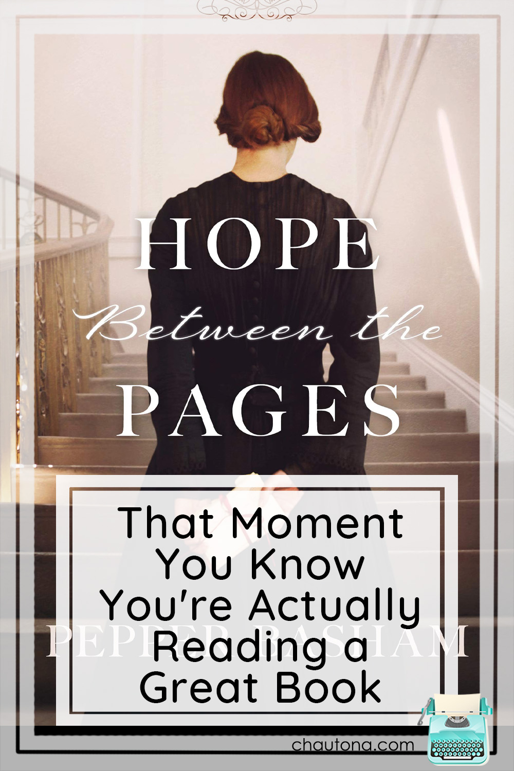 Hope Between the Pages will grab your heart, hold it fast, and never let it go. Instead, it'll wrap you in the pages of the story and smile. via @chautonahavig