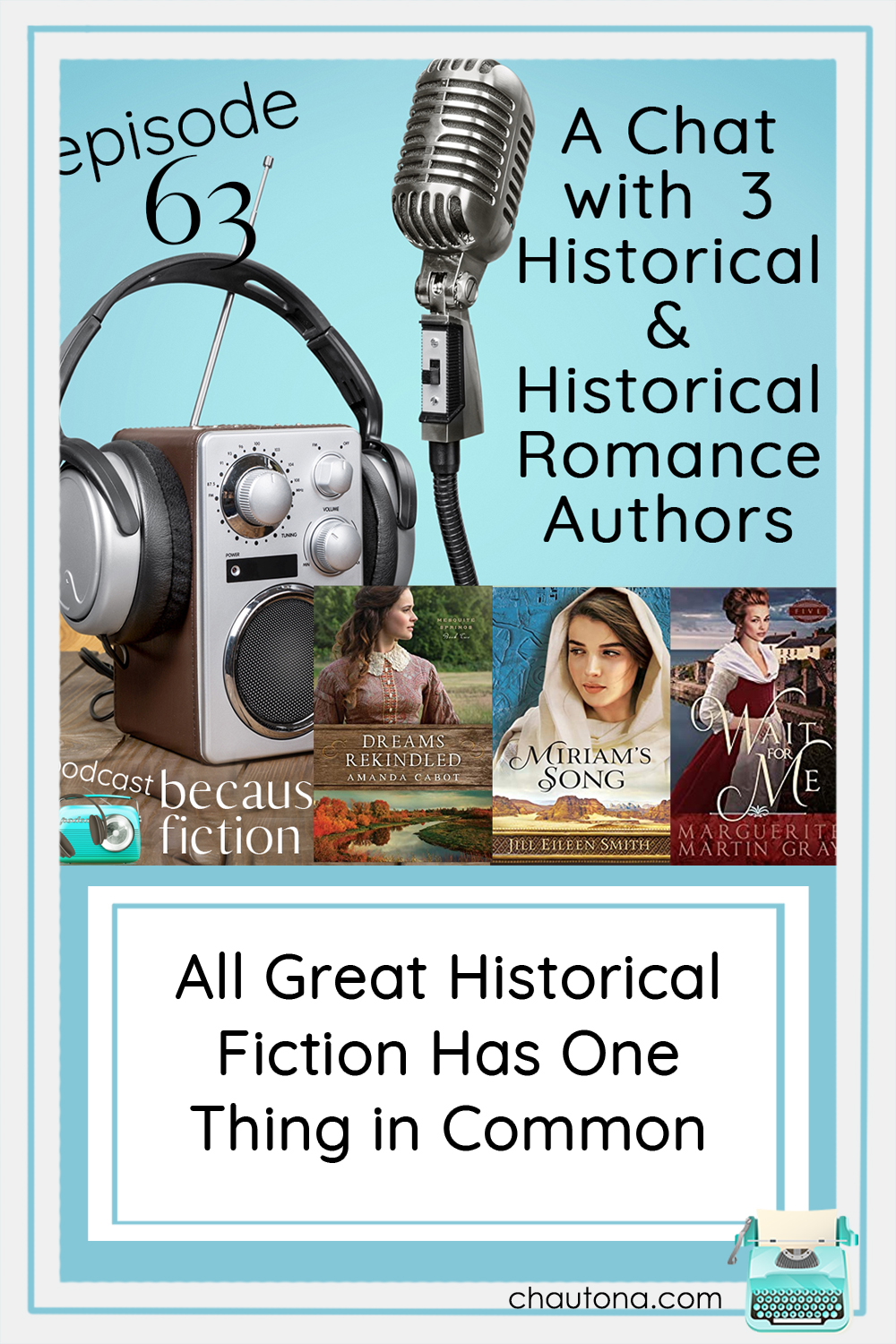 Historical fiction comes from many eras. In today's episode we look at Biblical fiction, the War for Independence, and US antebellum period. via @chautonahavig