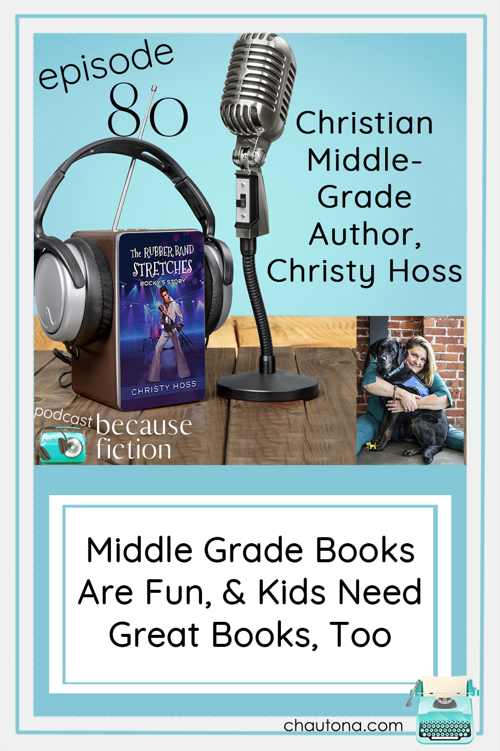 Middle-grade author, Christy Hoss, took inspiration from an actual third-grade rock band and wrote a fun and inspiring series for kids! via @chautonahavig