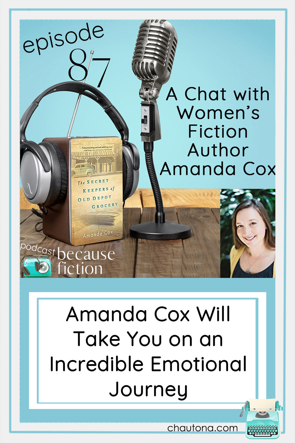 """Amanda Cox writes fabulous dual-timeline stories that give you """"all the feels"""" in all the ways--and the end is a story you'll never forget. via @chautonahavig"""