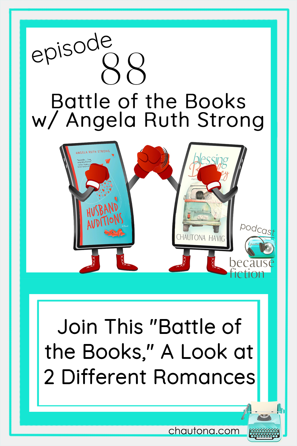 """Angela Ruth Strong & I compare and contrast our """"husband search"""" books. Angela's releases today,. You'll want to read it before listening. via @chautonahavig"""