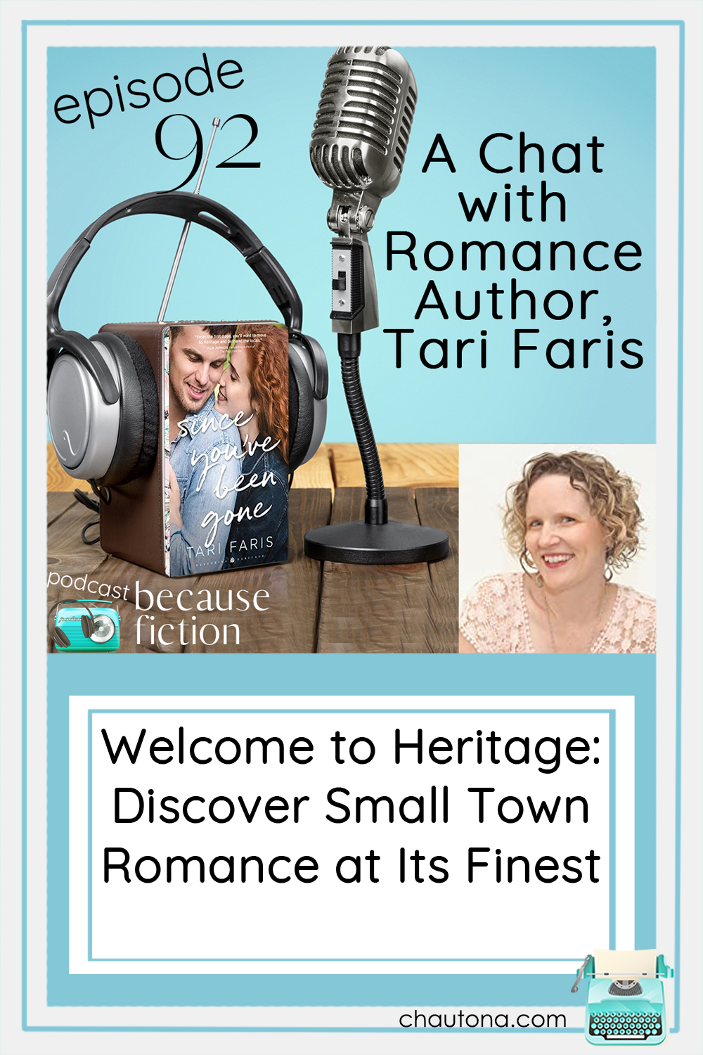 Author of the Restoring Heritage series, Tari Faris has just released her latest book, Since You've Been Gone, and talks about the inspiration for the series! via @chautonahavig